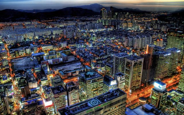 Ночной вид на Сеул