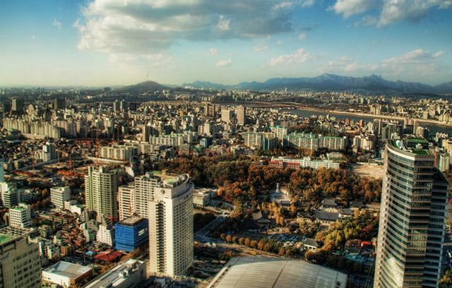 Сеул днем