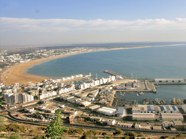 Город Агадир Agadir в Морокко