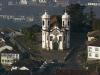 Построена церковь в стиле бразильского рококо. Строительные работы начались в 1766 году. Алежадинью был не только создателем проекта, но и активно участвовал в строительстве храма. Он украсил свое детище роскошным фасадом, выполнил наружные и внутренние резные работы. Наиболее примечательным стал круглый барельеф, на котором изображен святой Франциск Ассизский.