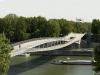 Открытие произошло в 2006 году. Верхняя арка моста позволяет увидеть неповторимый вид на старинные кварталы города, а вот нижняя – делает возможным полюбоваться красотой реки. Кроме того, на нижней дуге часто показывают выставки, ведь она закрыта от непогоды.